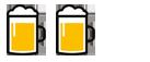 2x Bierkrug