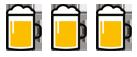 3x Bierkrug