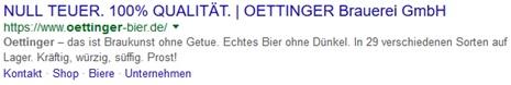 Oettinger Google Snippet