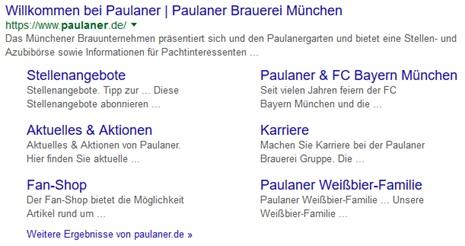 Paulaner Google Snippet